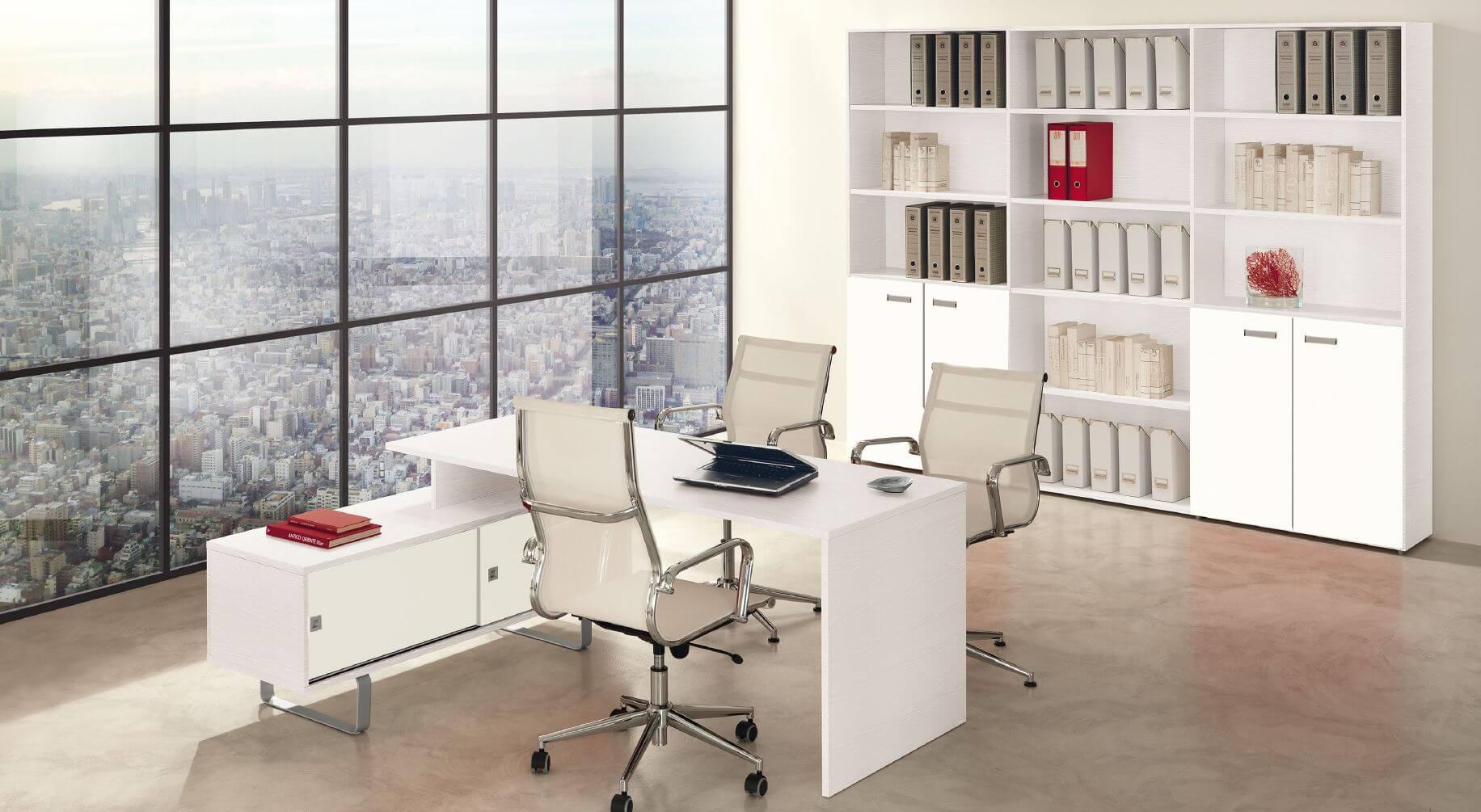 Bureau blanc frene ideal mobili
