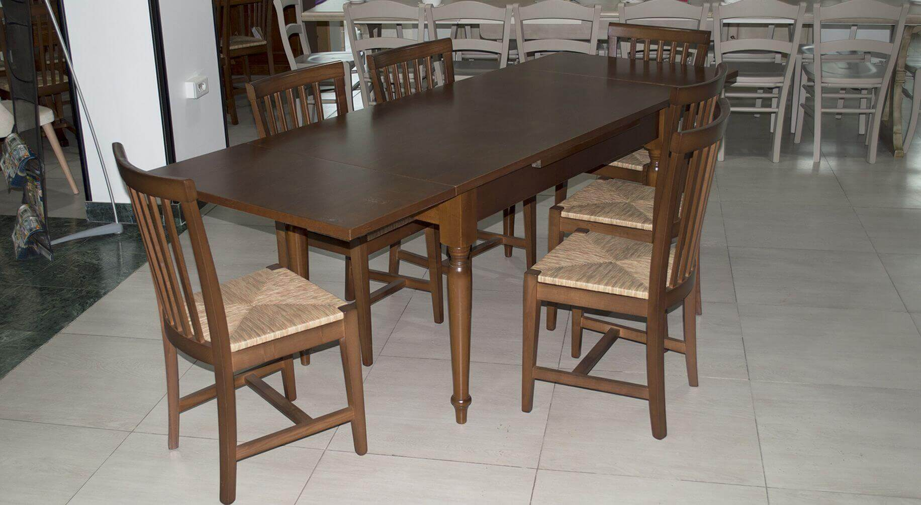 Shabby extensible noce ideal mobili for Table extensible alger