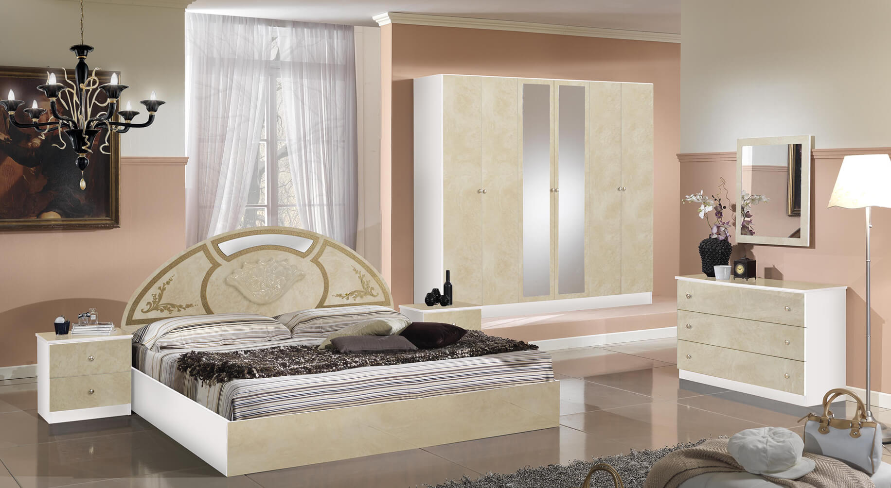 new rosa beige ideal mobili. Black Bedroom Furniture Sets. Home Design Ideas